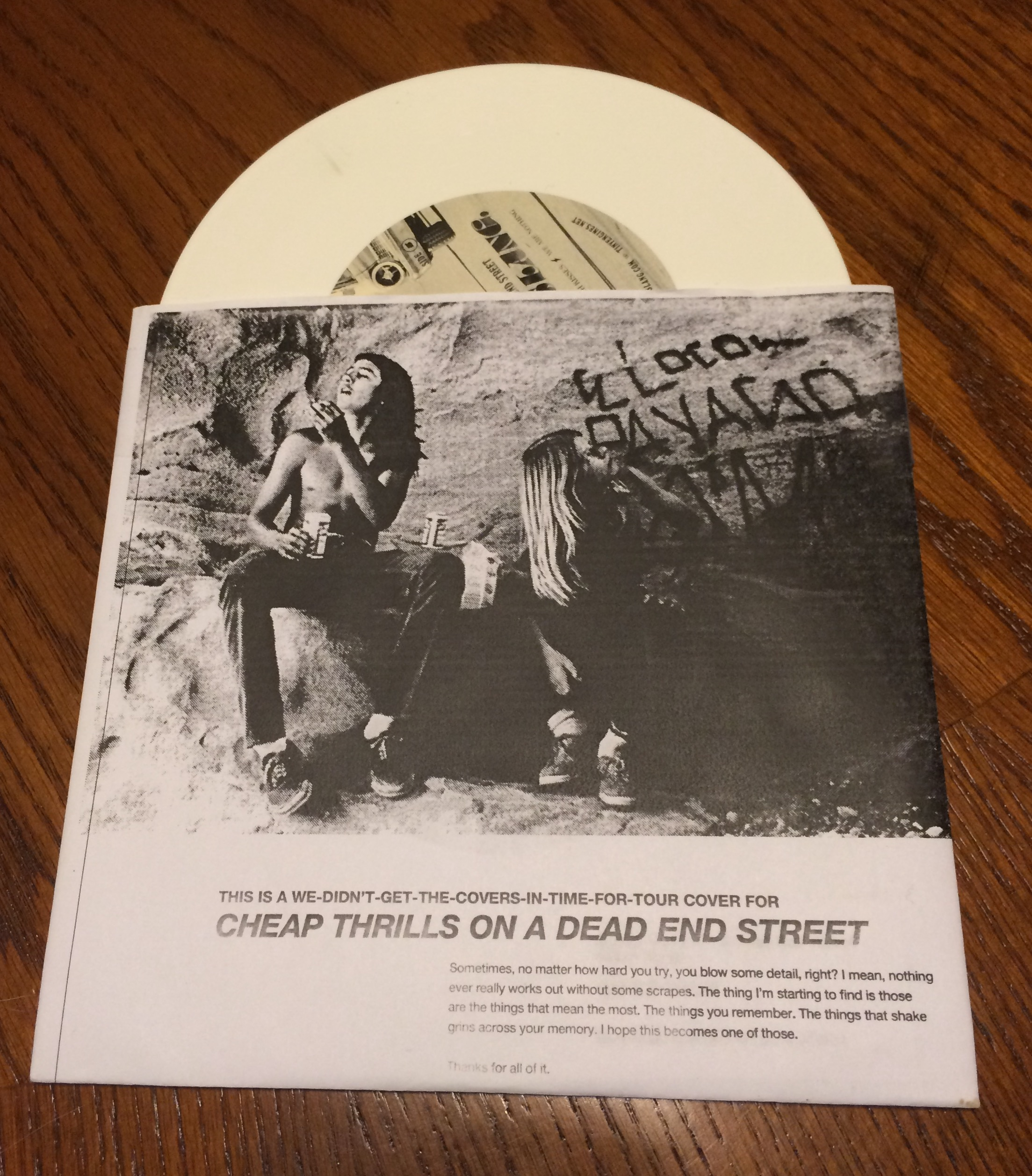 Footfall: Beach Slang Cheap Thrills on A Dead End Street (This-Is-A-We-Didn't-Get-The-Covers-In-Time-For-Tour edition)